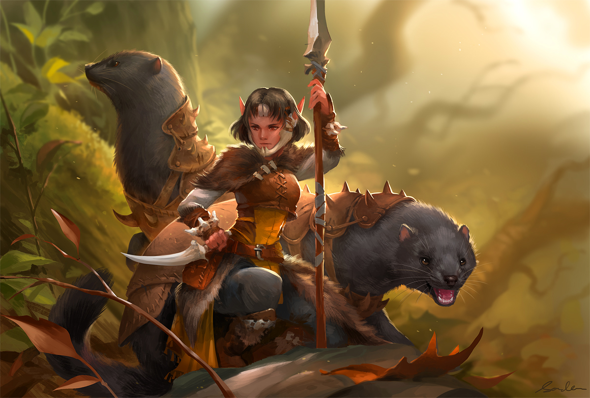 Huntress and minks