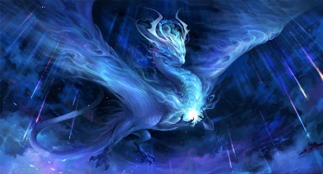 meteor dragon - Cosmos