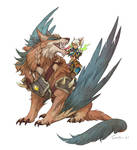 Wolfhawk mount (WoW) by sandara