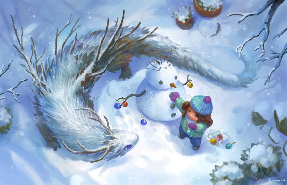 Hoarfrost Dragon by sandara