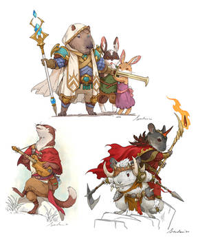 Animal character sketches