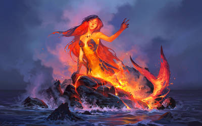 Lava mermaid