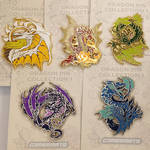 Large Dragon enamel pins