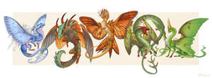 Butterfly and Moth dragons