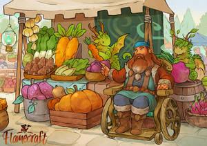 Flamecraft Vegetable Stall
