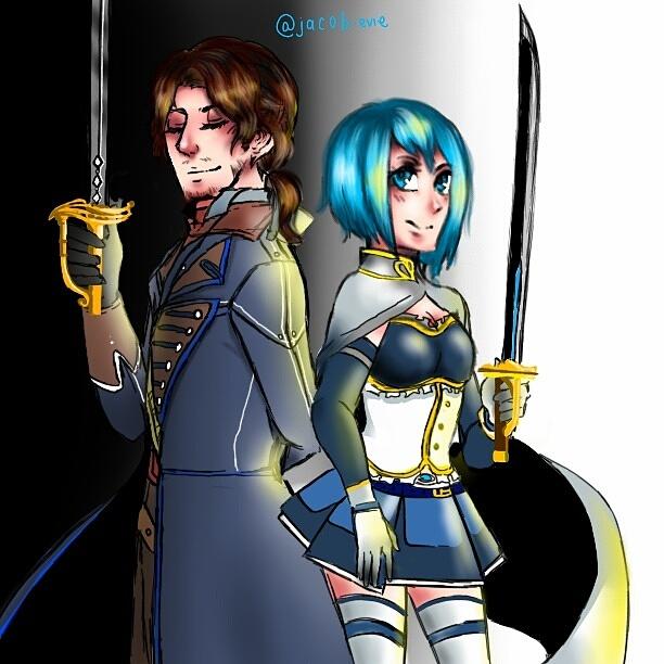 Arno Dorian and Sayaka Miki by LallejKnightCrossWar