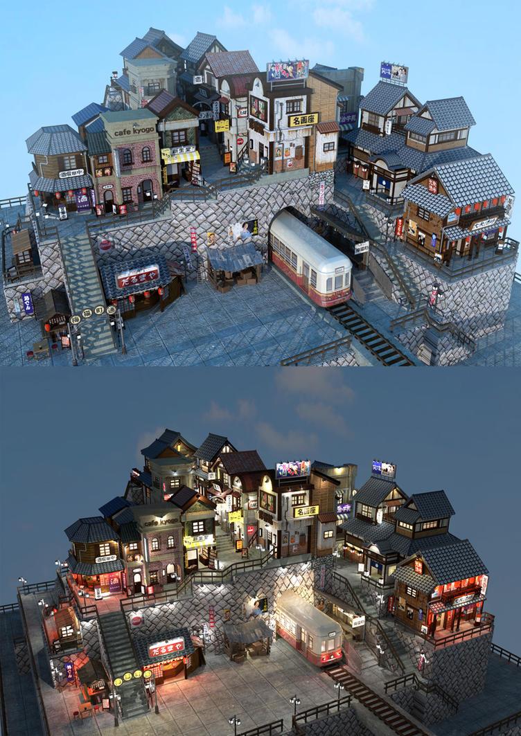 Japanese Oldtown by tandolcedeco