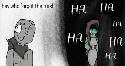 PURE TRASH by drawerchan101drawing