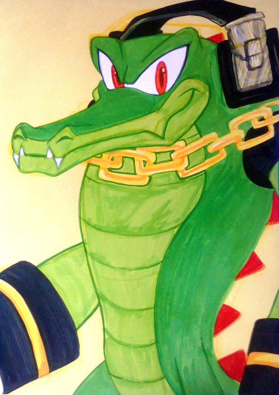Vector the crocodile and vanilla the rabbit