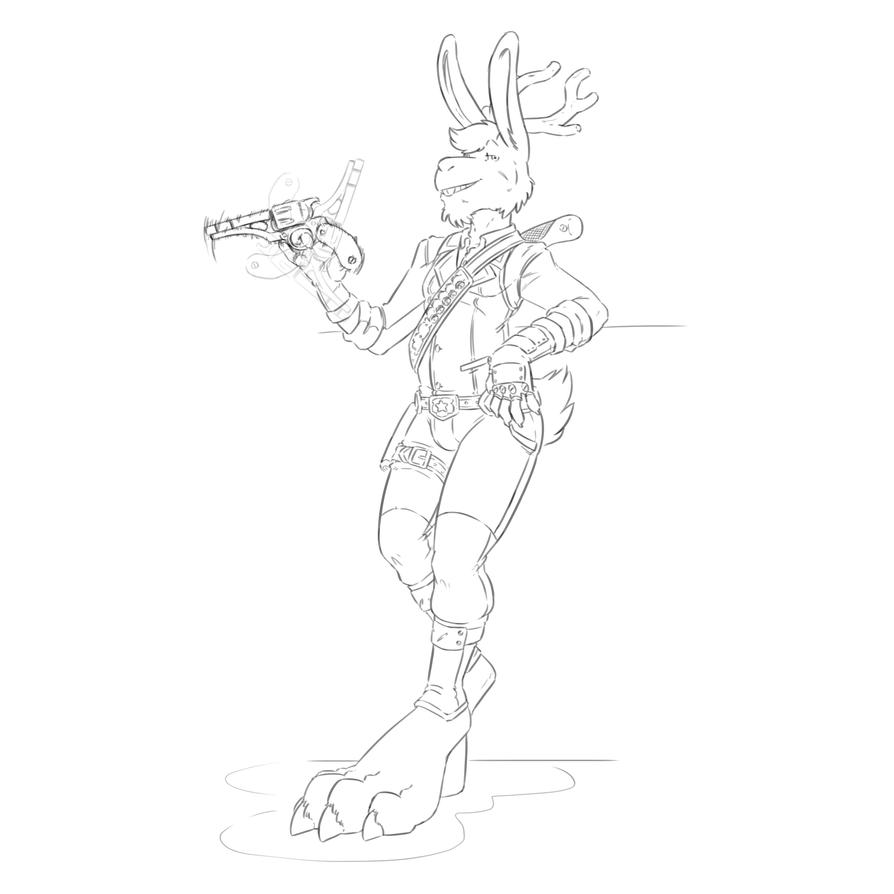 Buckshot, Jackalope Gunslinger [No Poncho] by TheDemonskunk