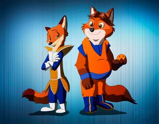 Saiyan Foxes [Zootopia] by DarkTailsXZ