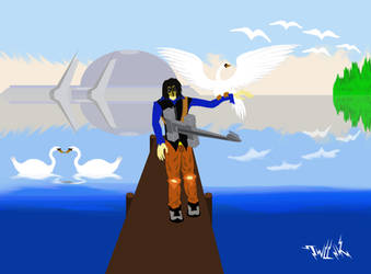 Swans and the Tuner by TWILLIK-MAWEL