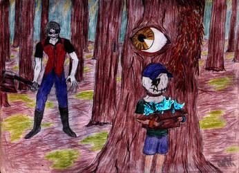 El nino monstruo y los gatitos fantasmas by TWILLIK-MAWEL