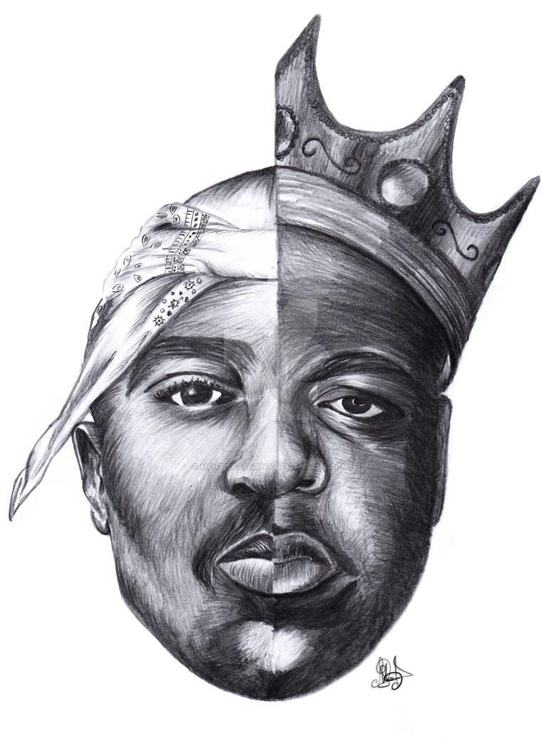 Tupac and Biggie Smalls by MehtievaSabina on DeviantArt
