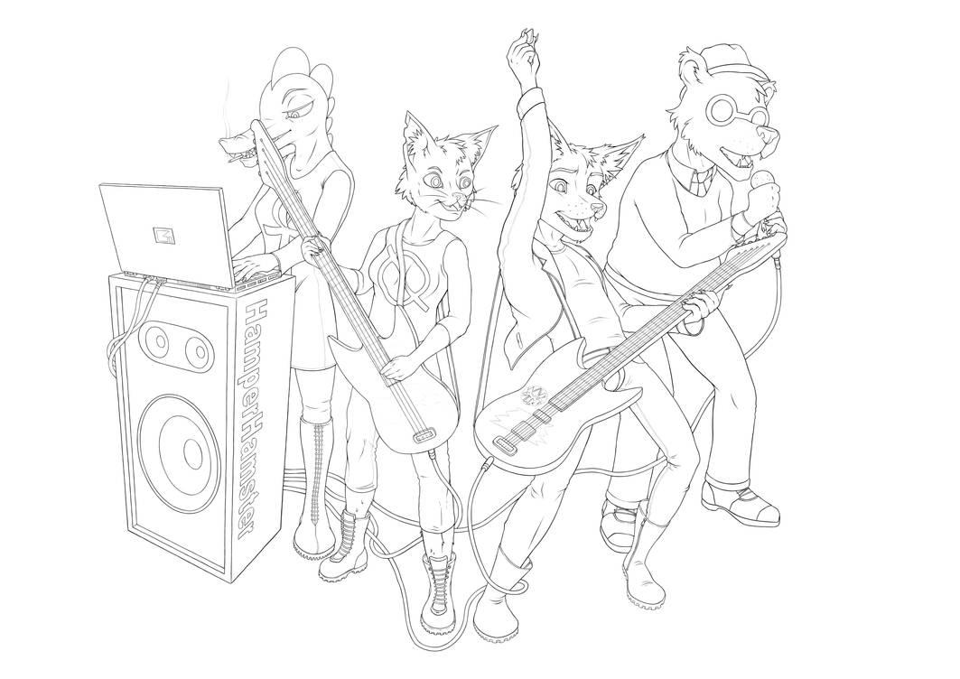 Band Practice (NITW)  - Line art