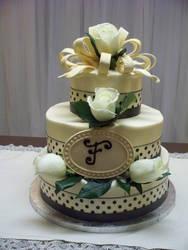 fresh roses wedding cake by kokoloco