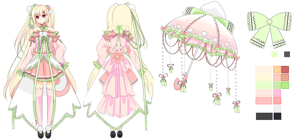 Umbrella Puff Adopt # 1 Extras by Miyuberry