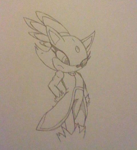 Blaze The Cat Sketch by DawnFelix