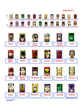 Guess Who?  SUPERHEROES (RED)