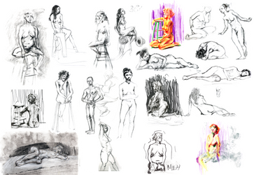 Life Drawing Compilation by CoolDrMoney