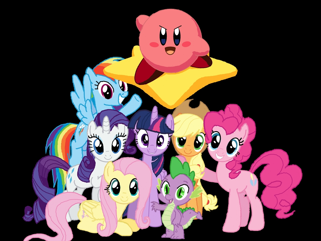 Kirby With The Mane Six And Spike By Kirbymlp On DeviantArt
