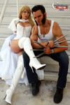 Emma Frost and Wolverine
