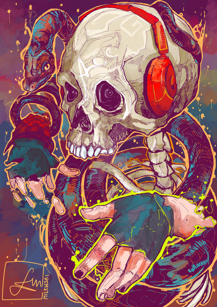 Candy Boy's Skull by Cinnamon-Alwej