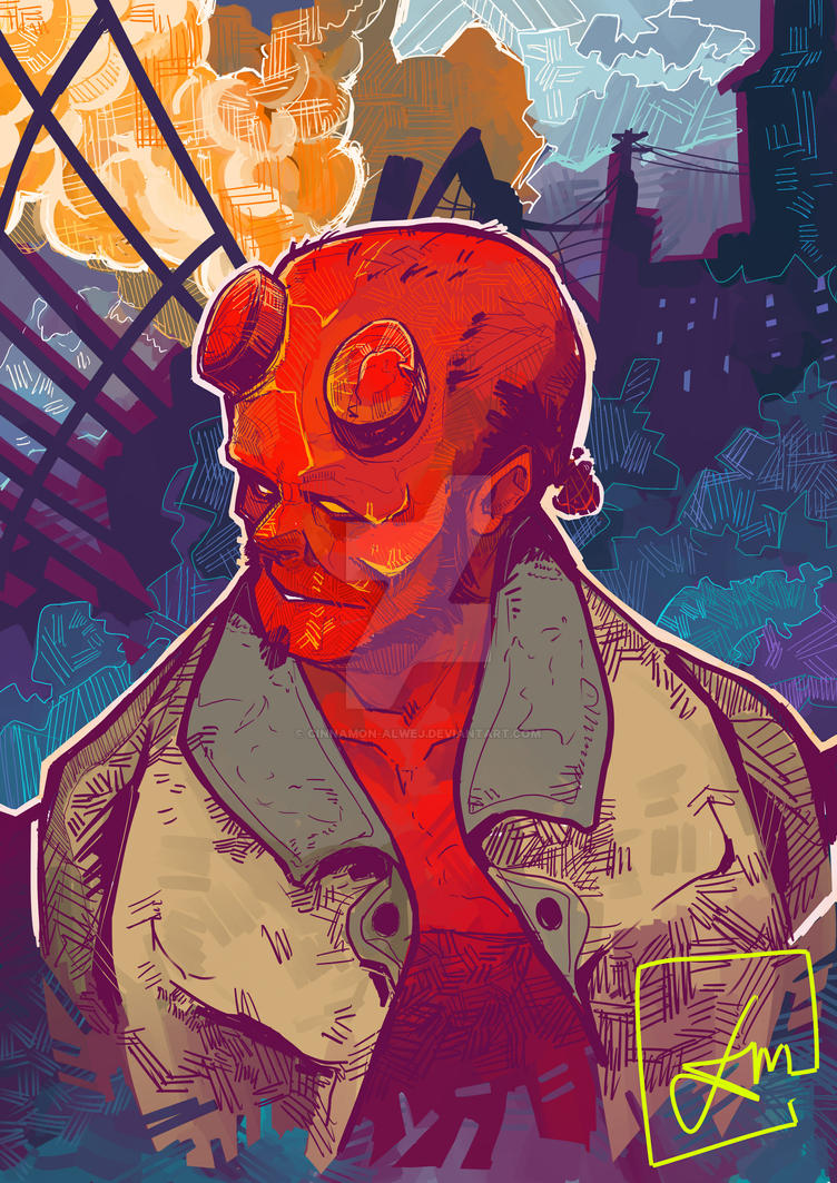 HellBoy - Smoke by Cinnamon-Alwej