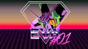 80's Style Eva Unit #01 Wallpaper