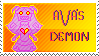 ava's demon stamp by furriendly
