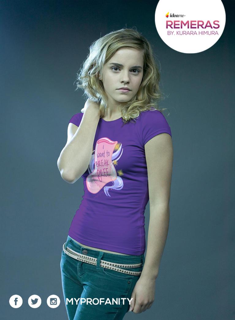 Remera Media Emma Watson 2 by Kurara-Himura