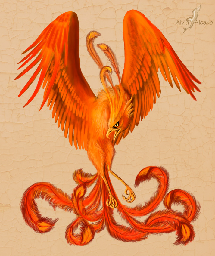 Red phoenix by AlviaAlcedo