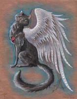 A black cat by AlviaAlcedo