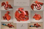 Red dragon sculpture