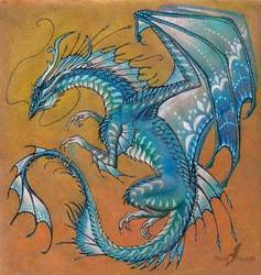 Blue Agate Dragon