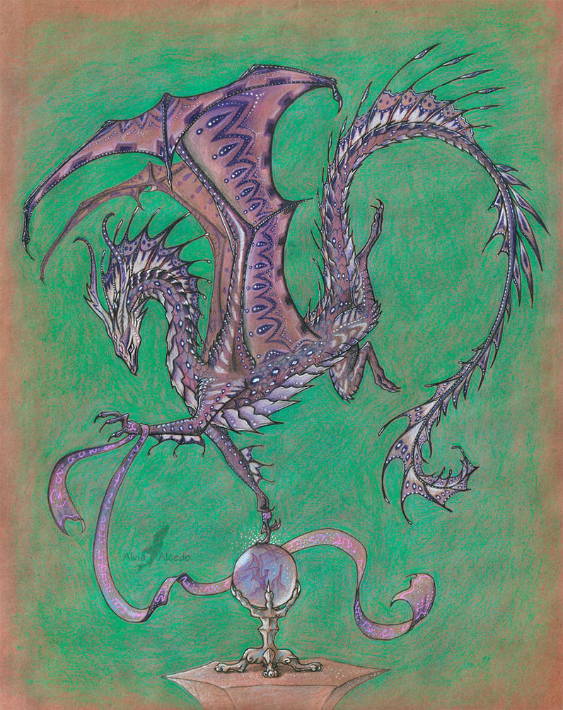 Amethyst dragoness by AlviaAlcedo