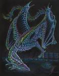 Night diamond dragon