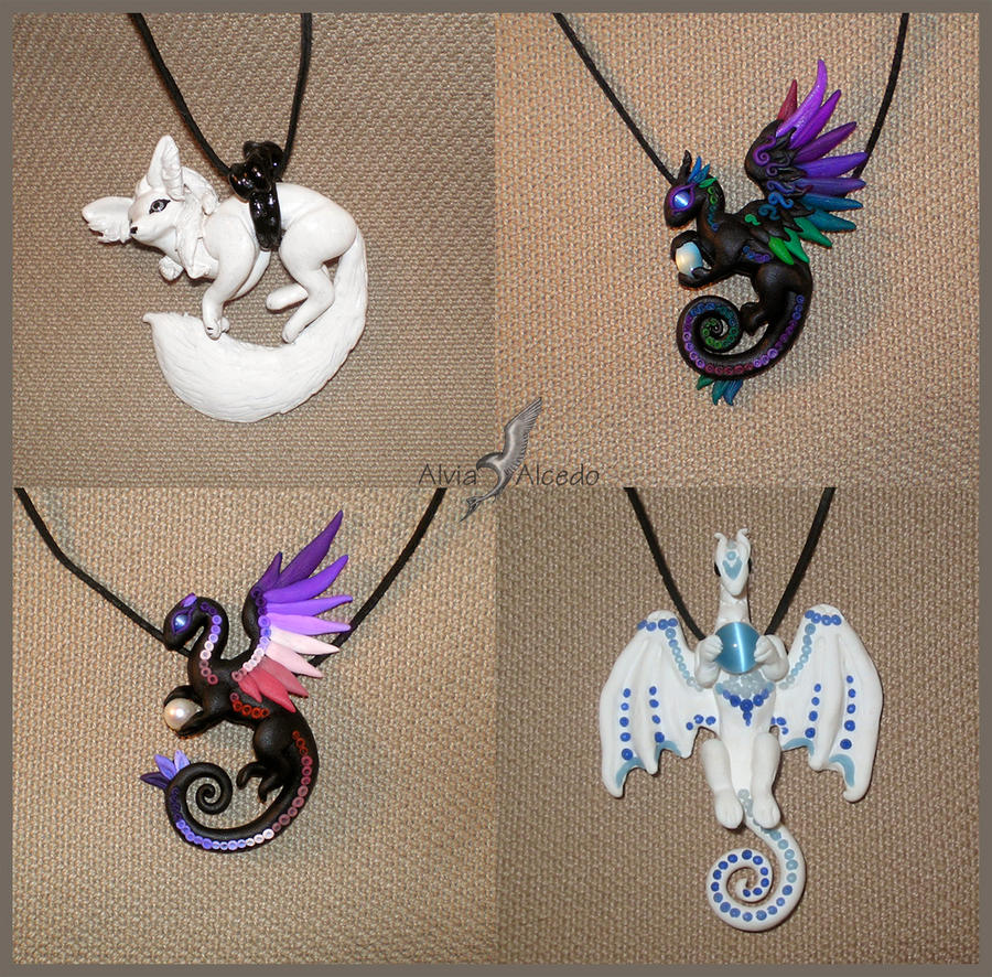 Fantasy necklaces set 4 by AlviaAlcedo