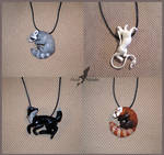 Summer animal necklaces by AlviaAlcedo