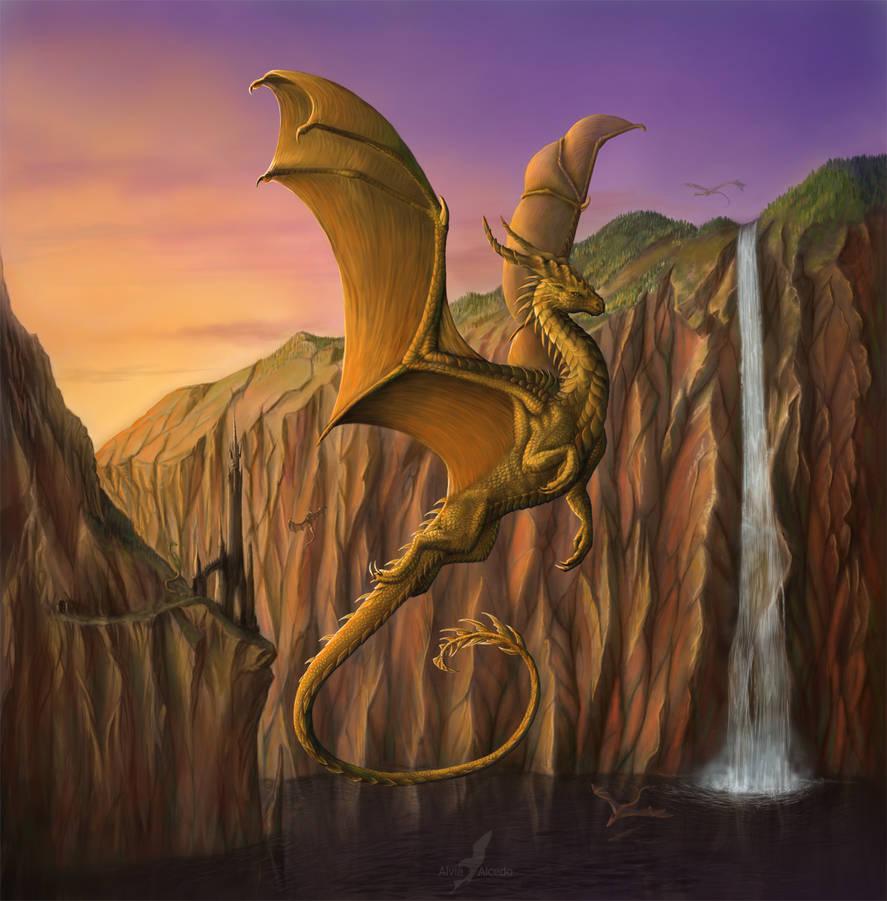 The Dragon Lake by AlviaAlcedo