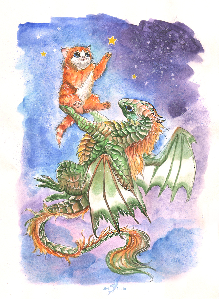 Dragon and kitty