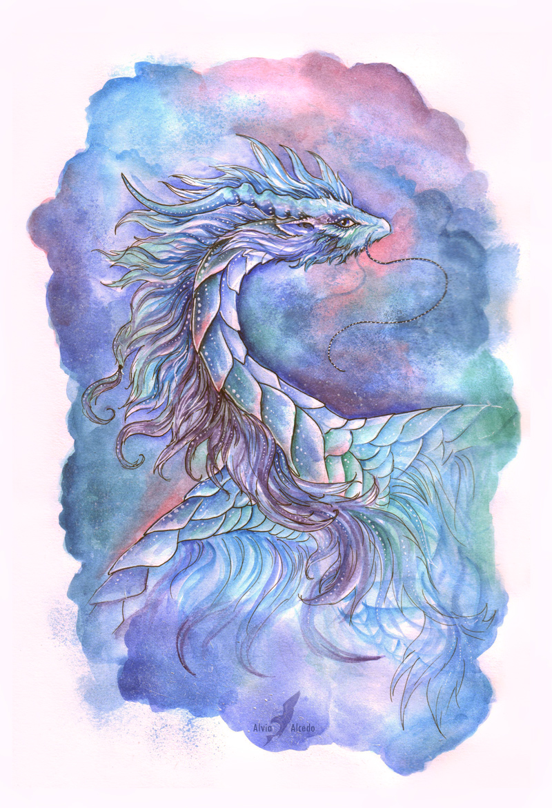 Space dragon by AlviaAlcedo