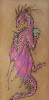 Pink dragon bookmark by AlviaAlcedo