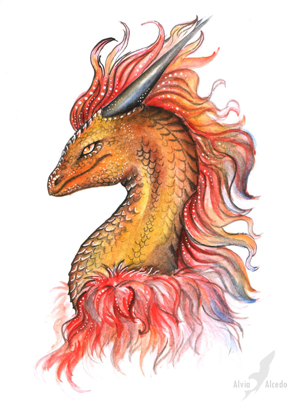 Sark the dragon by AlviaAlcedo
