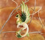 Spring dragon necklace by AlviaAlcedo