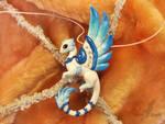 Crystal rain dragon  necklace