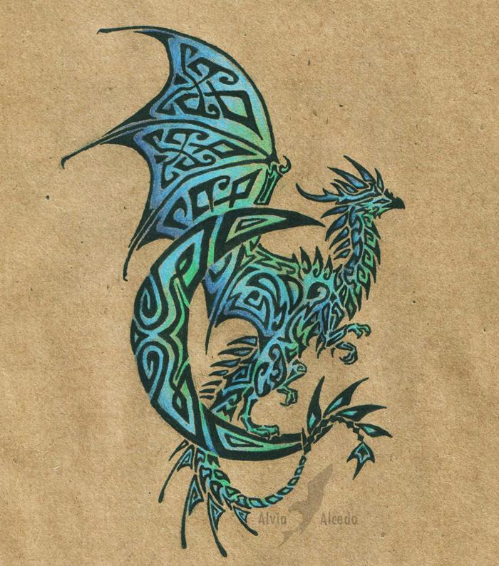 lunar dragon tattoo by alviaalcedo on deviantart. Black Bedroom Furniture Sets. Home Design Ideas