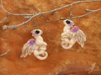 Angel dragons earrings by AlviaAlcedo