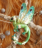 Dragonfly dragon necklace by AlviaAlcedo