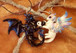 Love dragons - black and white